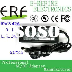Universal laptop ac power adapter for Acer 19v 3.42a 65w