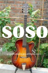 Wholesale Fully handmade jazz guitar with solid wood,2012 hot sale and best beautiful guitar.