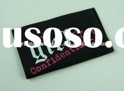 black full color silk screen printing cotton label for girls'clothes