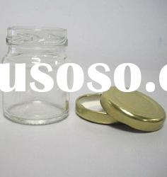 clear 30ml glass jar with gold metal lid
