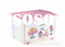 convenient design plastic Storage box with wheels
