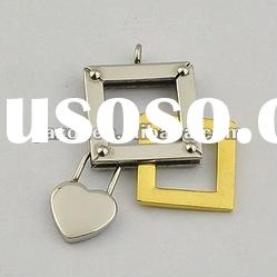fashion lady's stainless steel heart pendant