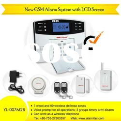 gsm wireless home security alarm system with voice indication for operation(YL-007M2B)