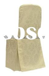 ivory polyester damask chair cover for banquet