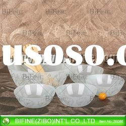 new design frosted glass salad bowl set