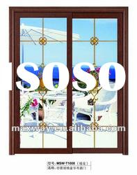 new luxury aluminum sliding entry door with best quality