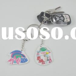 new products for 2012 hot sale cheaper popular soft pvc keychain/rubber keychain/3d key ring