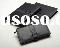 stylish portable business leather-bound notebook