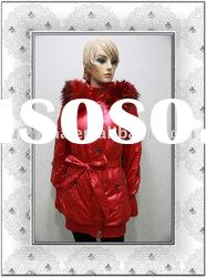 women`s fashion down feather coats/winter coats with really fur collar in 2011-2012