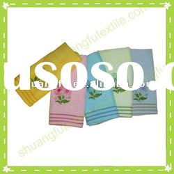100% cotton terry velour embroidery bath towels
