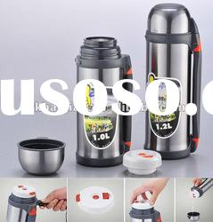 1.0 L 1.2 L Stainless steel vacuum travel thermos