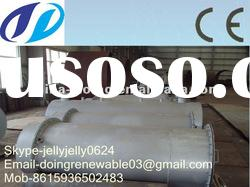 2012 Doing 5/6/8/10T pollution-free high oil yield waste tire/plastic fuel oil recycling plant