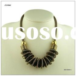 2012 Fashion Zinc Alloy Lady Gold Costume Necklace, Fine Alloy Jewellery