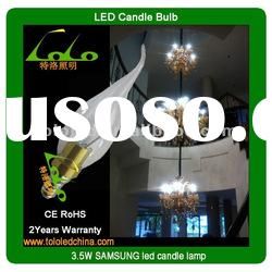 2012 NEW! 4W led candle bulbs for chandelier light with E14