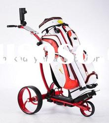 2012 aluminum electric golf trolleys with tubular motor(electric powered golf trolley)