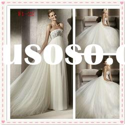 2012 summer indian A-line satin ruffle lace applique strapless showy wedding dress W1-22