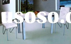 2012 white Glass Dining Table Set DT3050