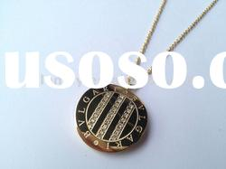 316 Stainless steel necklace with 18k gold MN160