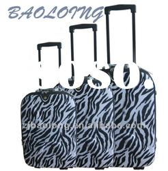 3 pcs Factory Cheap Trolley Leopard Luggage