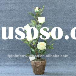 Artificial Cheap Potted Flower Rose ,Potted Roses Flowers