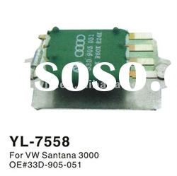 Auto blower motor resistor for VW Santana