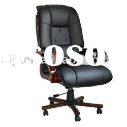 B-117 black office leather adjustable chair