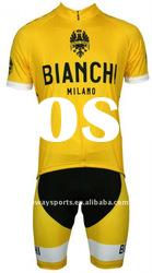 Bianchi Yellow Tour Team Quick Dry And Moisture Short Bicycle Jersey Set