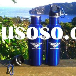 Blue painting stainless steel sport water bottle
