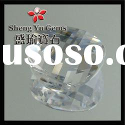 Checkerboard Cut CZ Stone Wuzhou Synthetic Gems Factory Price