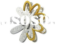 Chic design gold plated fashion FLOWER Pendant stainless steel jewelry supplier