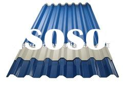 Color PVC synthetic reisn double layer coated roofing tile
