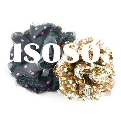 Costume delicate fashion jewelry cloth and lace design flower hair clips
