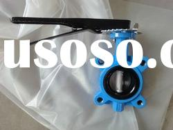 Ductile Iron or Cast Iron Soft-sealed Wafer Mindline Butterfly Valve