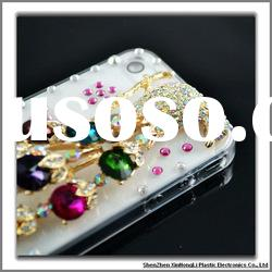 Fashionable luxury bling cell phone cases for iphone4g with factory price