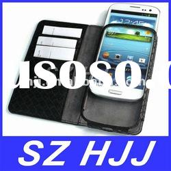 Folio Argyle Pu Leather Case Cover With Card Slot For Samsung Galaxy i9300