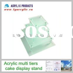 Hot in 2011 4-tiers frosted white acrylic dessert display