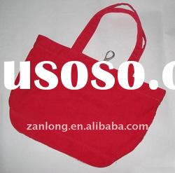 Hot sale durable non woven promotional shopping bag red