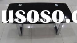 Modern small tempered glass top coffee table