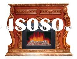 New Hot Wooden Remote Control Electric Fireplace