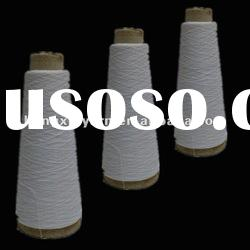 Optical White polyester dope dyeing yarn Ring spun dope dyed