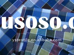 Plaid 100% cotton yarn dyed shirting fabric