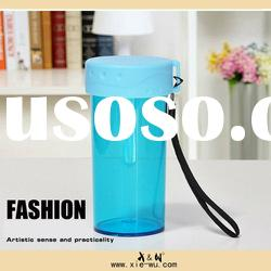 Plastic water bottle Travel coffee mug 350ML