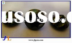 Round Shape Black Synthetic Gemstones with AAA Grade