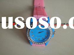 Silcione Diamond watches with high grade Japan movement fashion use only