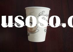 Single wall hot drink coffee paper cup