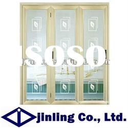 Sound and Heat Insulation Aluminum Glass Window, Aluminum Glass Window with Leaf