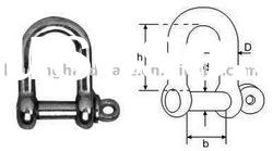 Stainless Steel Straight Dee Shackle With Screw Pin(chain accessories)