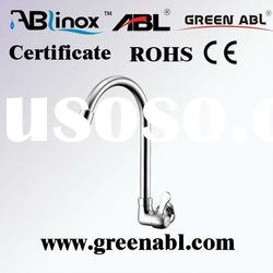 Stainless steel wall mounted kitchen mixer tap