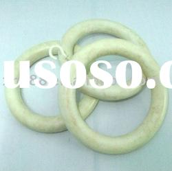 WR-003 57.15mm Hot sell wood curtain pole ring