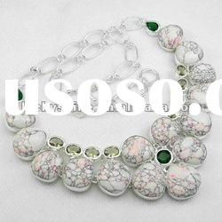 Wholesale natural stone jewelry fashion necklace jewelry white Turquoise